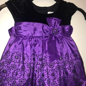Other - Purple and black formal floral dress